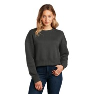 District Women's Perfect Weight Fleece Cropped Crew DT1105