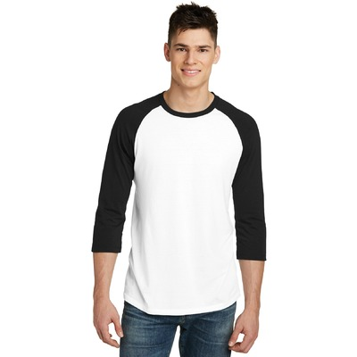 District Young Mens Very Important Tee 3/4-Sleeve Raglan. DT6210